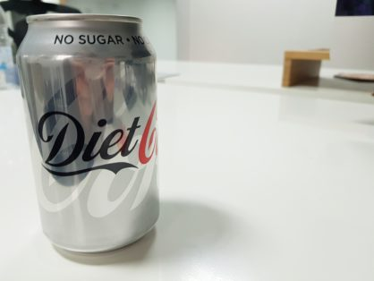 Artificial sweeteners in diet coke