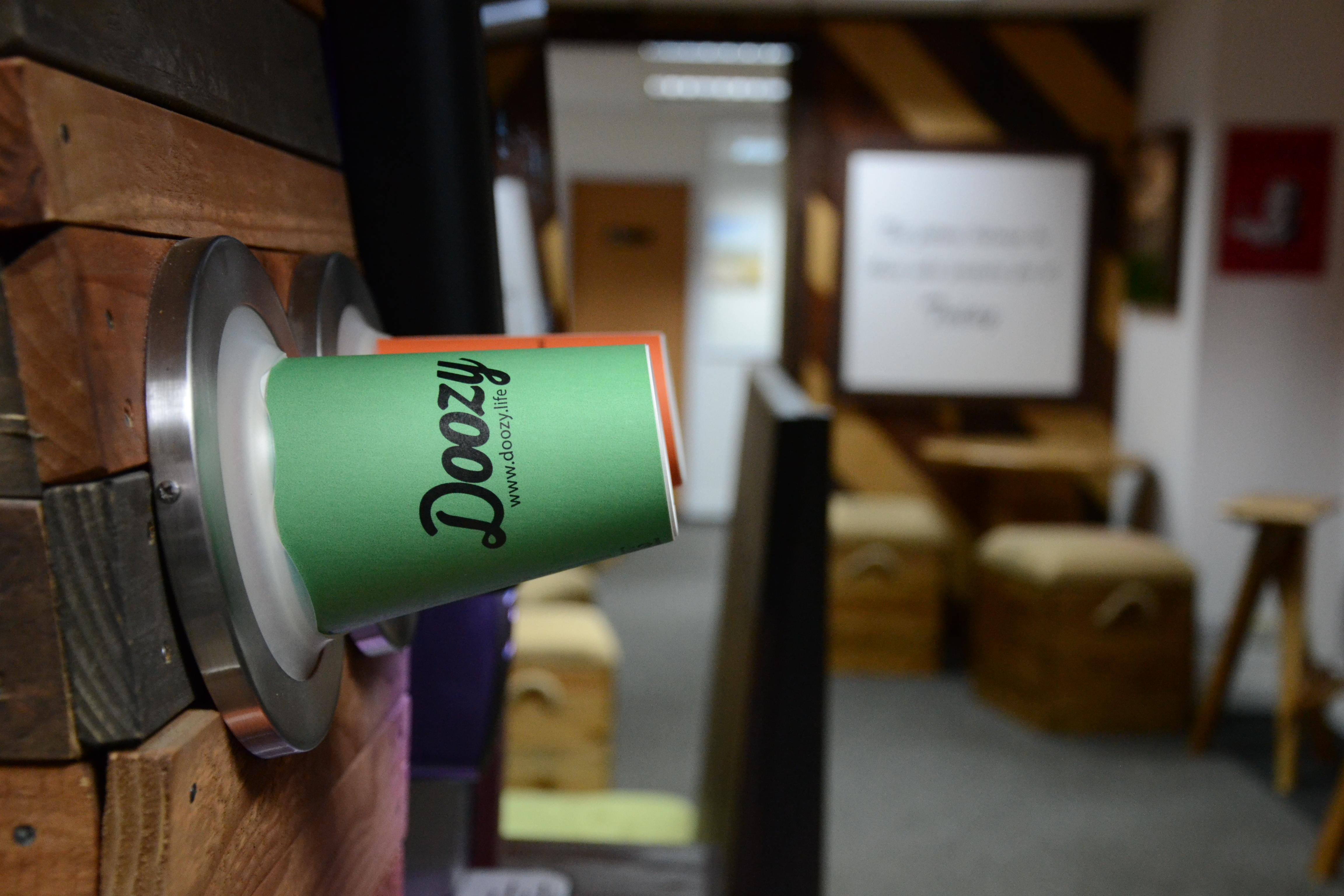 healthy vending at Doozy showroom