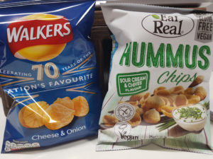Crisps traditional vs healthy vending