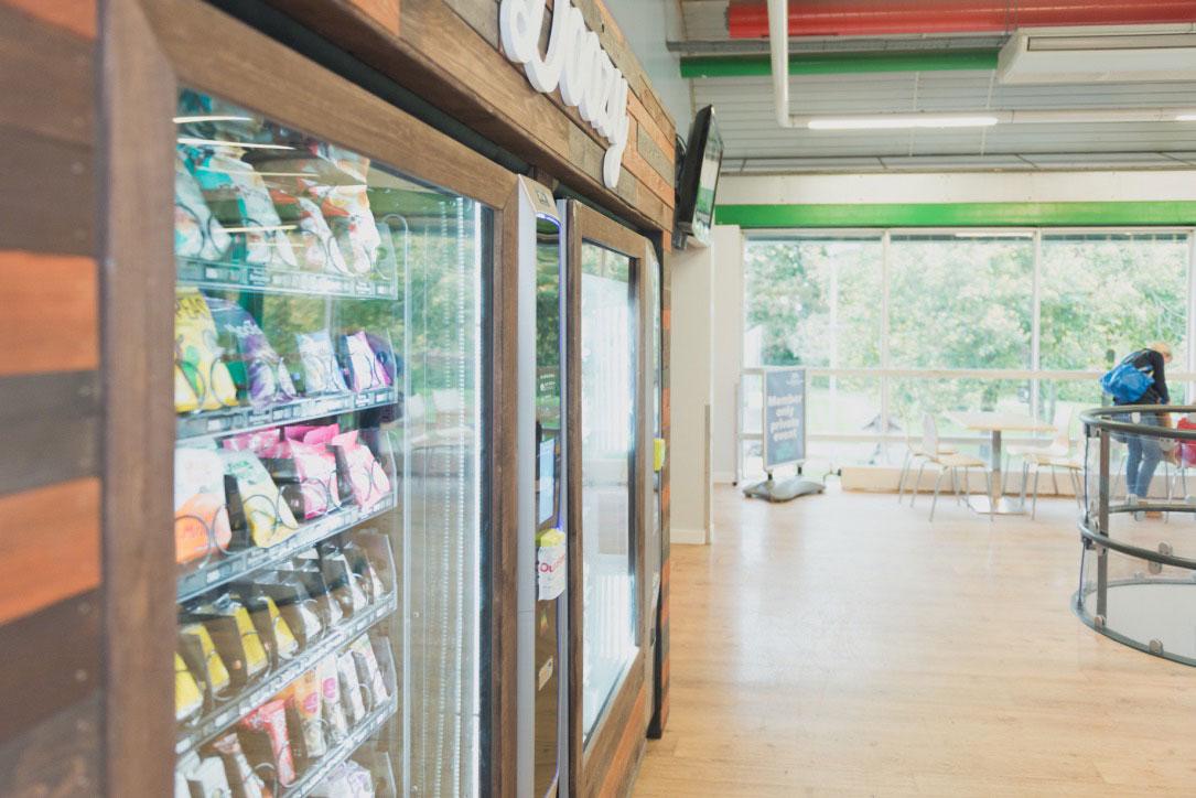 Healthy vending machine in leisure centre