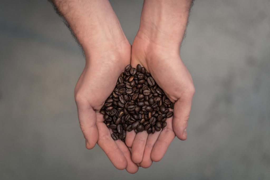 Coffee beans from a commercial coffee machine