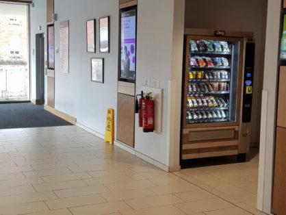 healthy vending machine at university site
