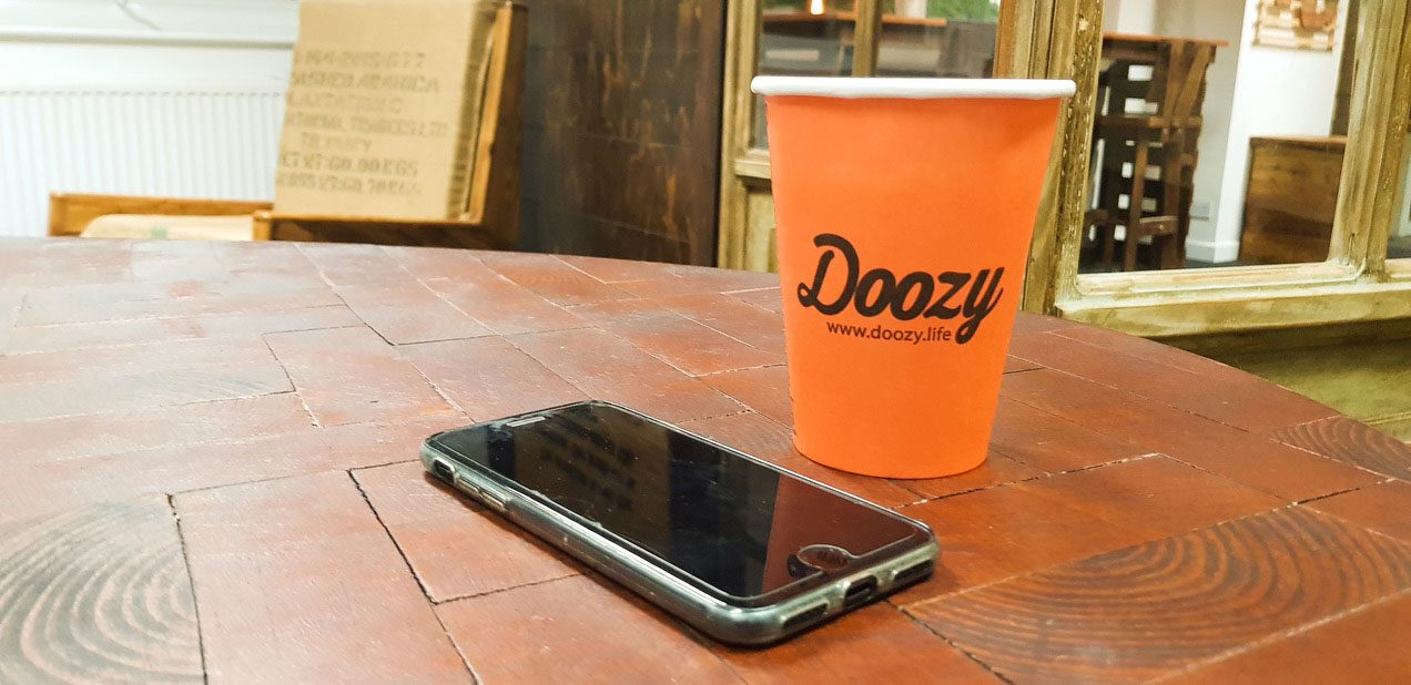 doozy cup from cashless vending machines