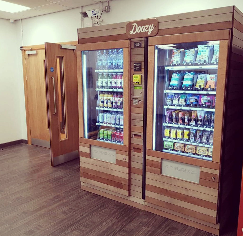 Healthy vending machine with products
