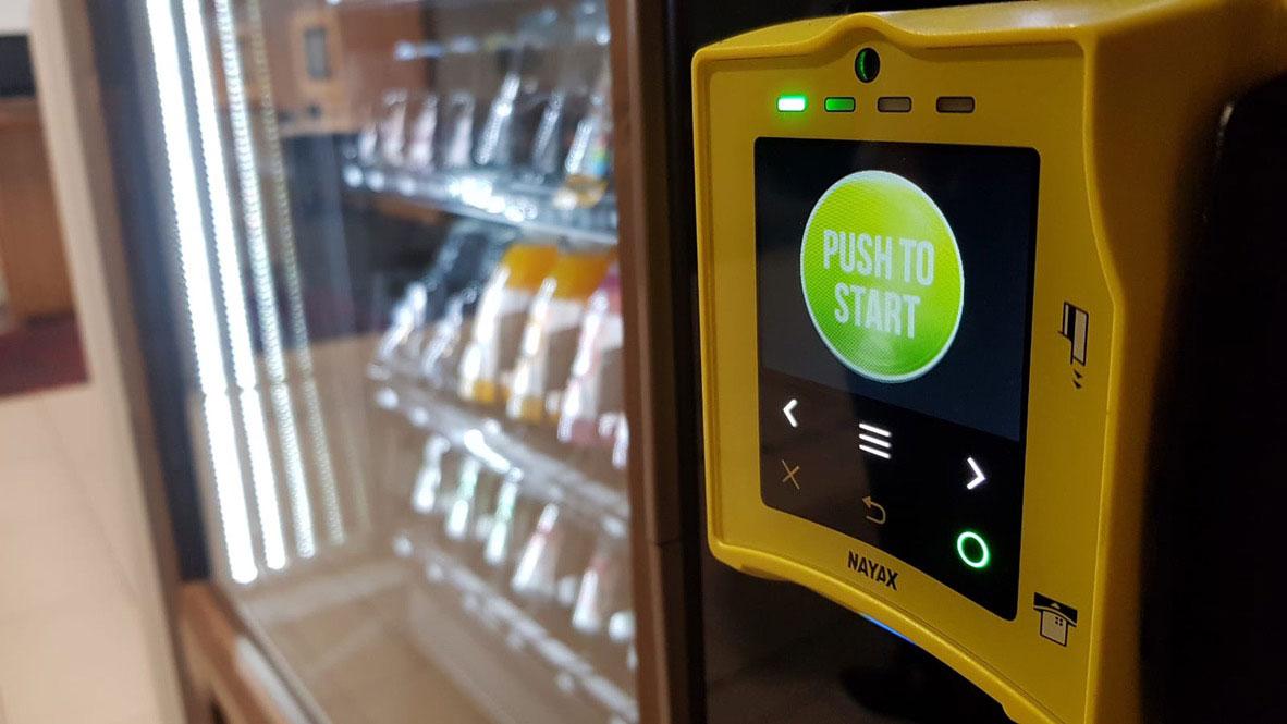 vending machines changing cashless